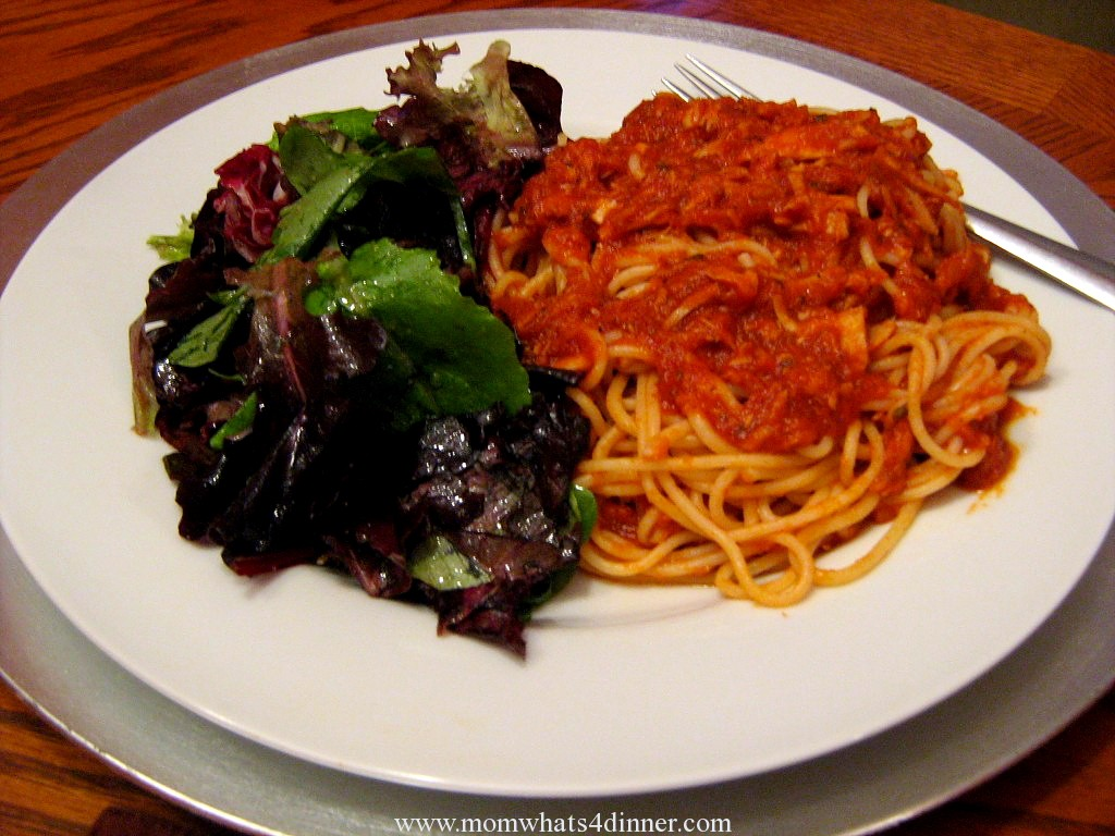 Tuna Sauce with Spaghetti