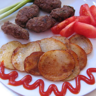 kafta with chips