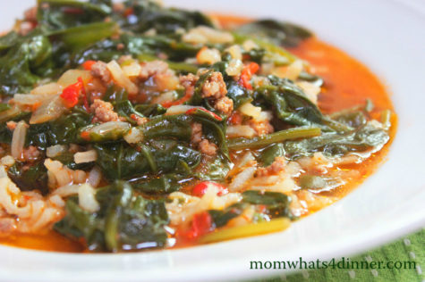 Spinach and Rice-Pirincli Ispanak