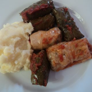 cabbage rolls and stuffed grape leaves