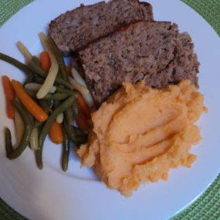 meat loaf and sweet potato mash