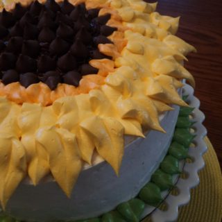sunflower cake side view