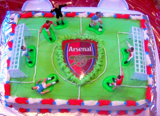 Arsenal Soccer Field Cake  When Feta Met Olive