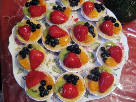 Fruit Tarts with Custard