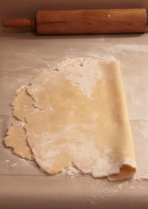 Sprinkle flour on the dough, so that dough does not stick when you fold