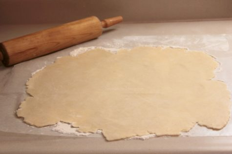 Rolled out dough, you can roll it out thinly as I did here, or thicker as I do at times as well