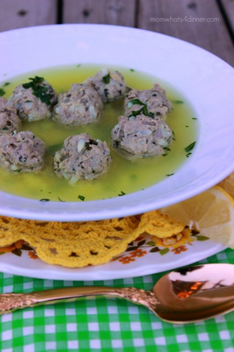 Lemon Meatball Soup