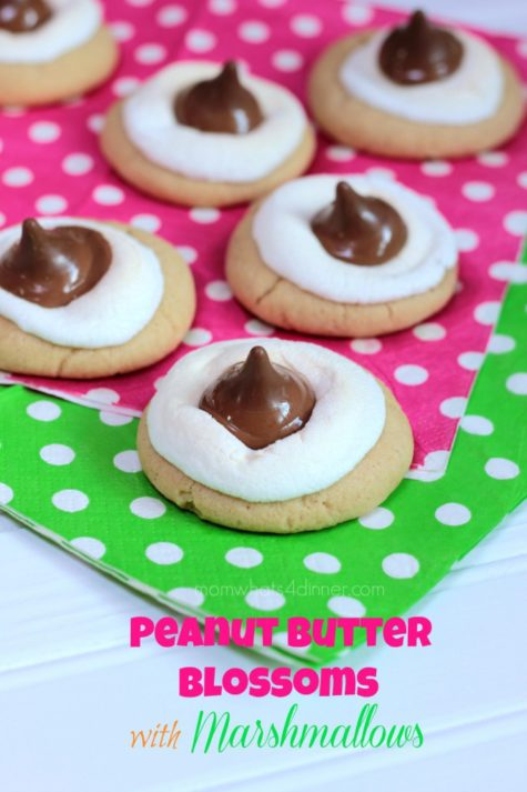 Peanut Butter Blossoms with Marshmallows