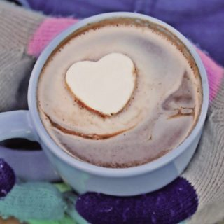 Hot Cocoa with a whipped cream heart