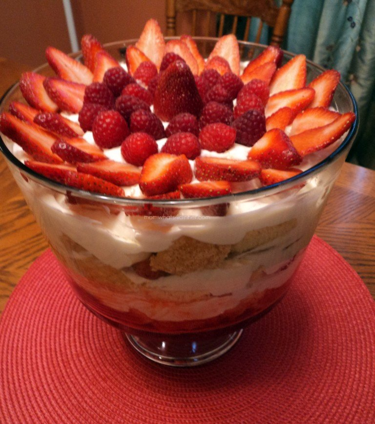 Strawberry Trifle | Mom! What's for dinner?
