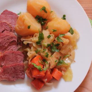 Corn beef with cabbage and potatoes