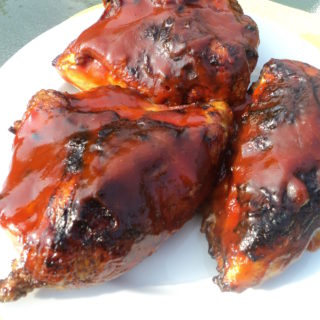 Add BBQ sauce at the end of cooking the chicken