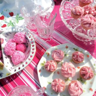Pink tea party with my girls