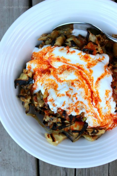 Grilled Eggplant with Garlic Yogurt