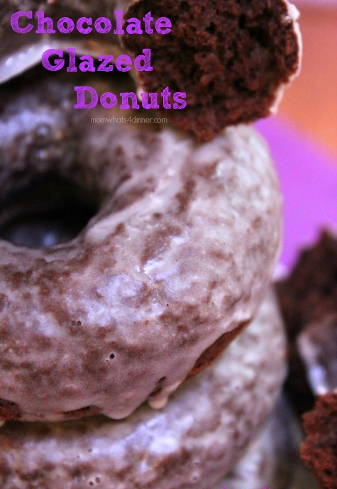Baked Chocolate Glazed Donuts
