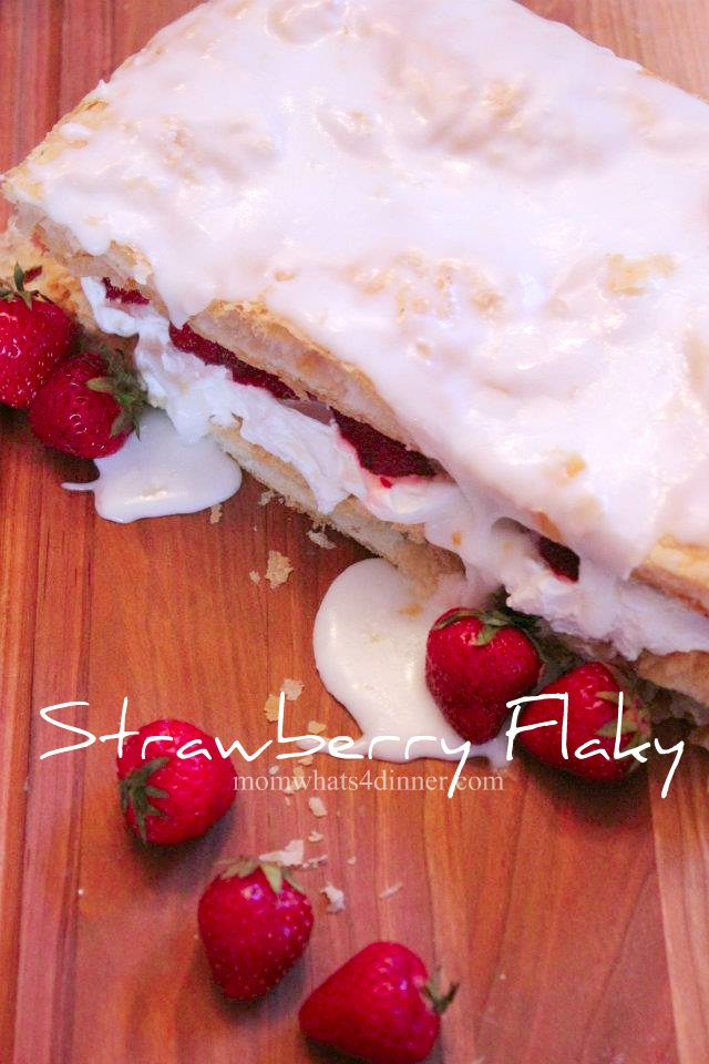 Homemade Strawberry Flaky