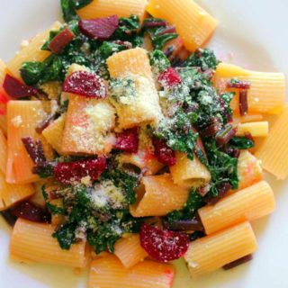 Rigatoni with Beets and Stems