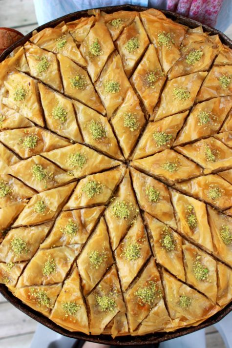 This baklava was for dessert
