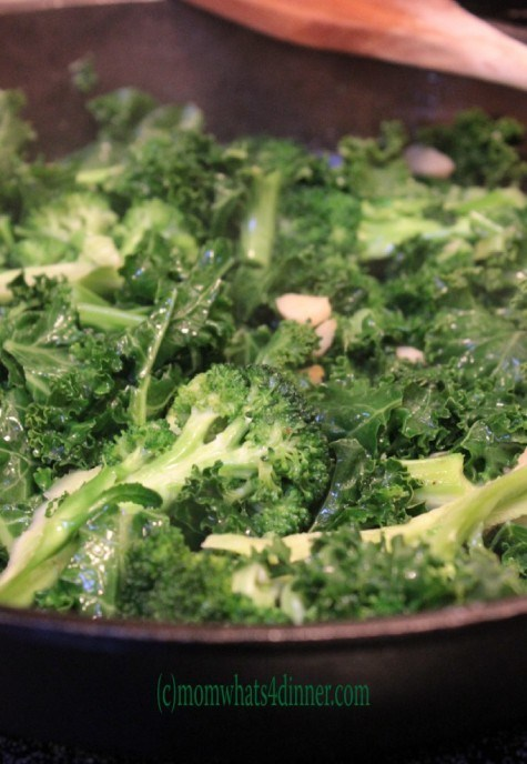 Organic Kale and Broccoli