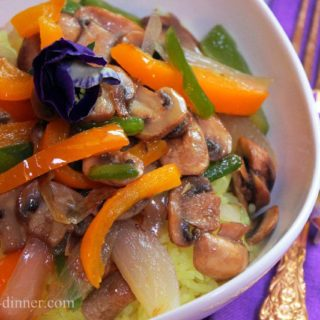 Jasmine Rice with Peppers and Mushrooms