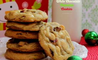 Cranberry White Chocolate Pistachio Cookies