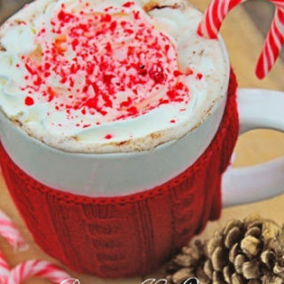 Peppermint Hot Cocoa with Crushed Candy Cane