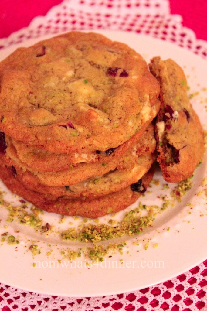 White Chocolate Cranberry & Pistachio Cookies