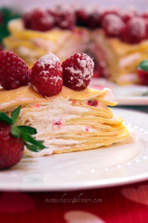 Crepe Cake with Berries
