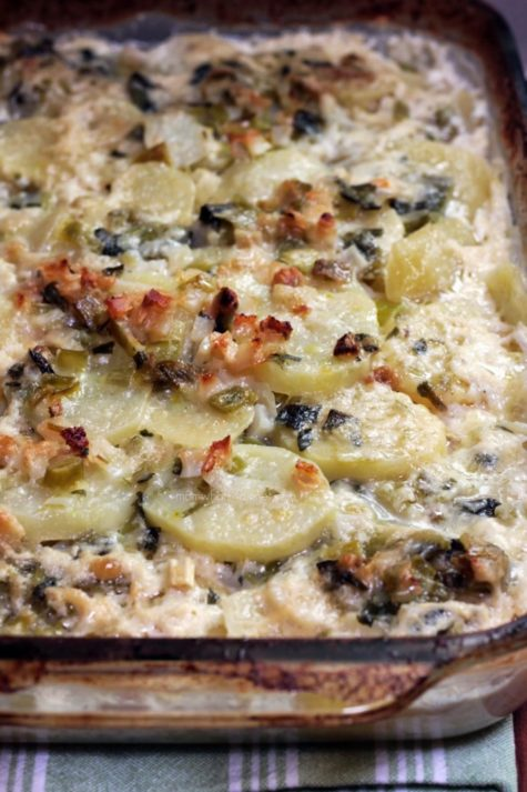 Scalloped Potatoes with Leek
