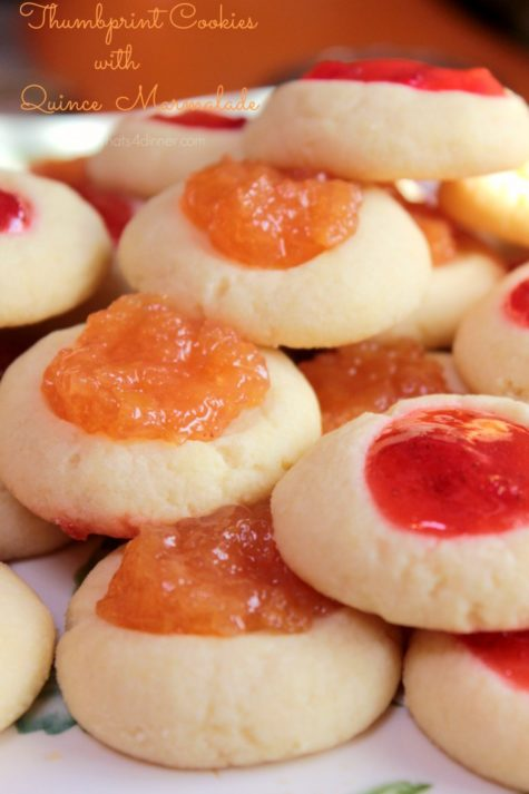 Thumbprint Cookies with Quince Marmalade