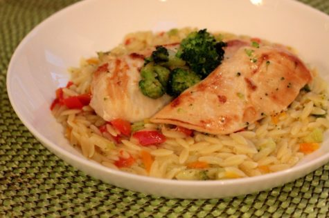 Chicken, Broccoli and Orzo