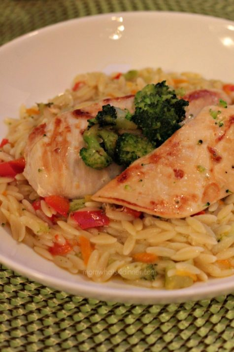 Orzo with Chicken and Broccoli