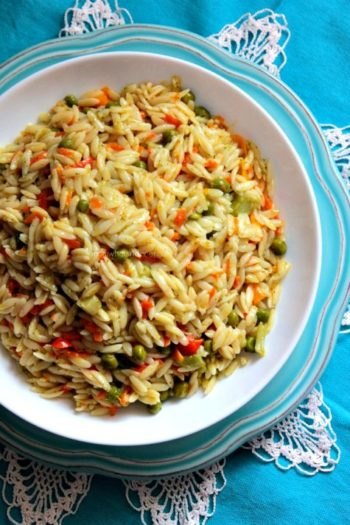 Veggies with Orzo