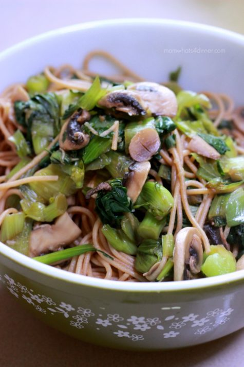 Bok Choy with Whole Wheat Pasta