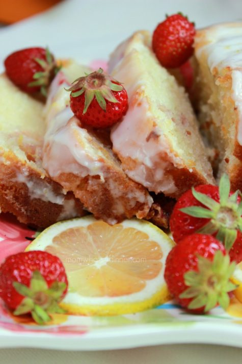 Strawberry Lemon Loaf Cake