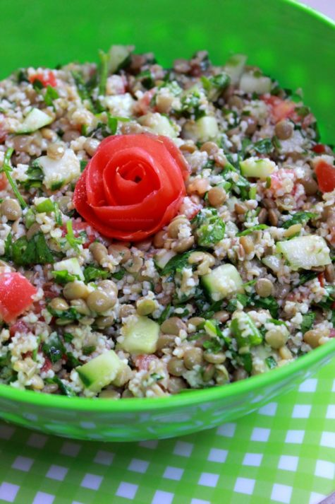 Bulgur and Lentil Salad