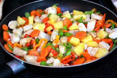 Chicken and Veggies in Pan