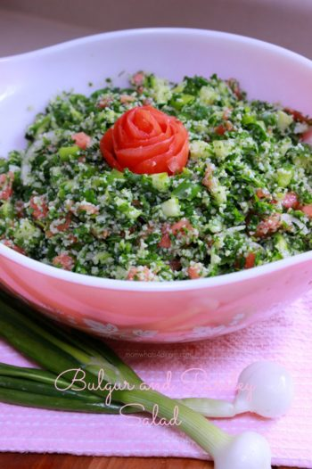 Bulgur and Parsley Salad