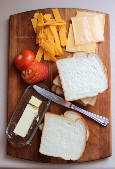 Grilled Cheese Ingredients