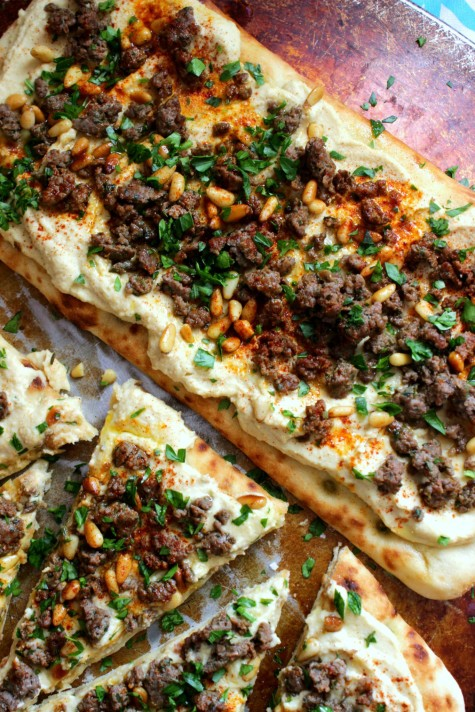 Hummus with Spiced Beef