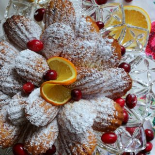 Cranberry Orange French Madeleines