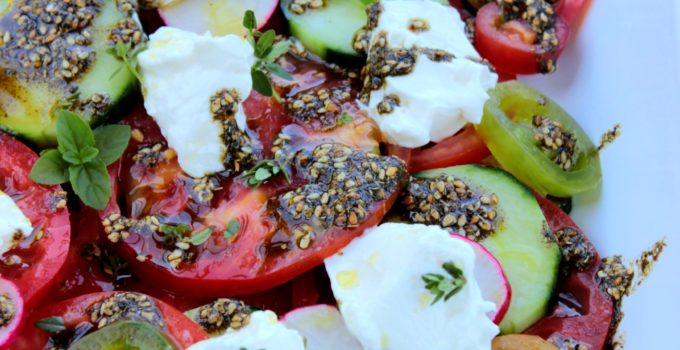 Labne with Tomatoes and Zaatar