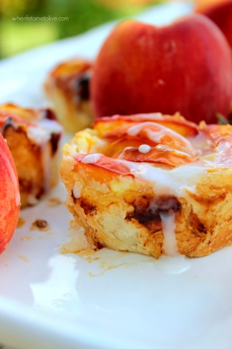 Peach Puff Pastry Rolls